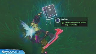 Fortbyte #27: Found Somewhere Within Map Location A4 Location Guide - Fortnite