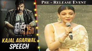 Actress Kajal Aggarwal Speech @ Khaidi No 150 Pre Release Event || Megastar Chiranjeevi