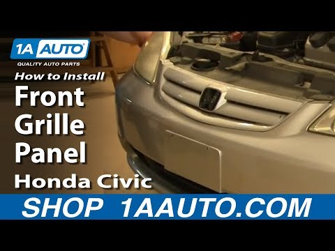 How To Install Replace Front Grille Panel Honda Civic 01-05 1AAuto.com