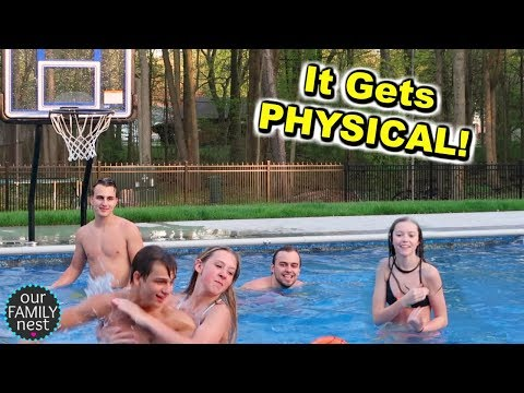 INTENSE GAME OF COUPLES POOL BASKETBALL!
