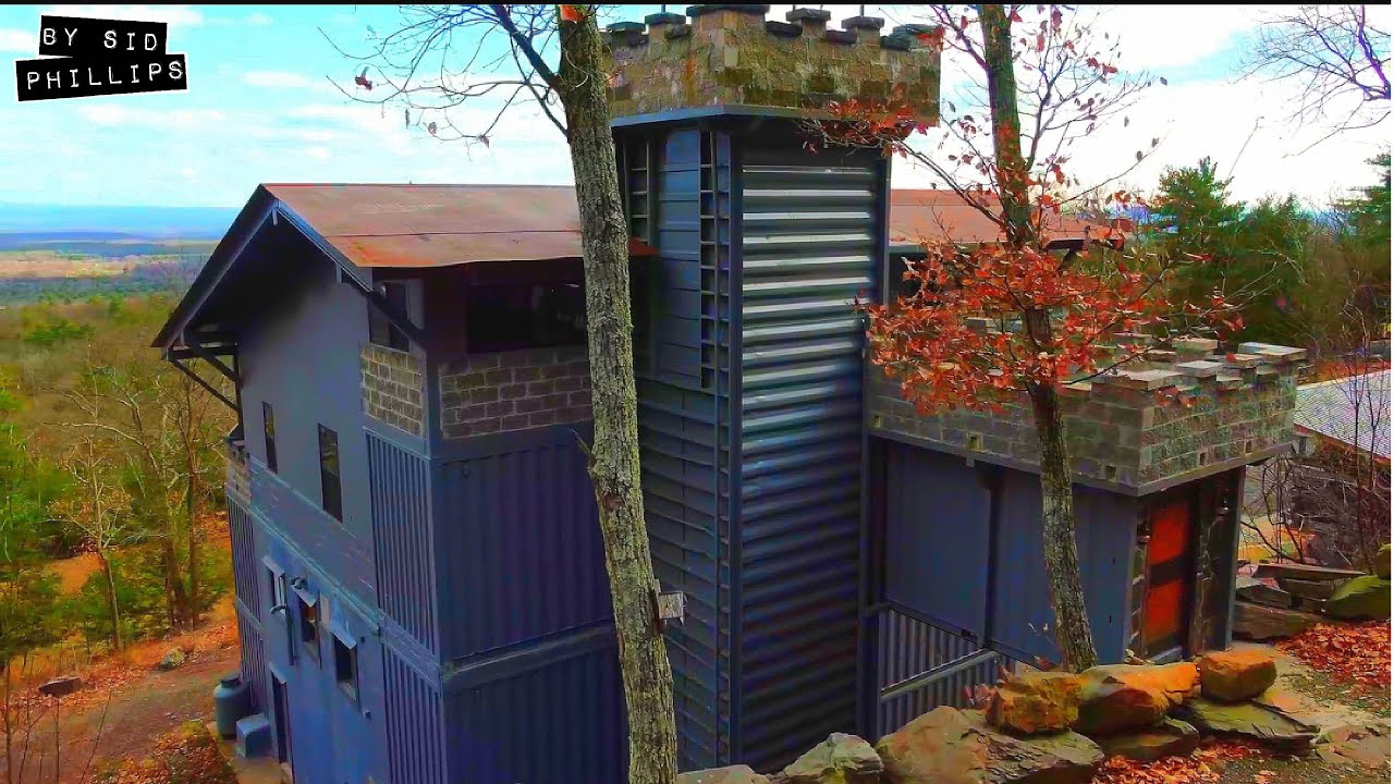 The man that built a castle from shipping containers