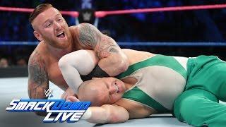 Heath Slater & Rhyno vs Spirit Squad - SmackDown Tag Team Title Match: SmackDown LIVE, Oct. 25, 2016