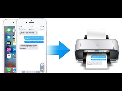 How to Print Text Message from iPhone