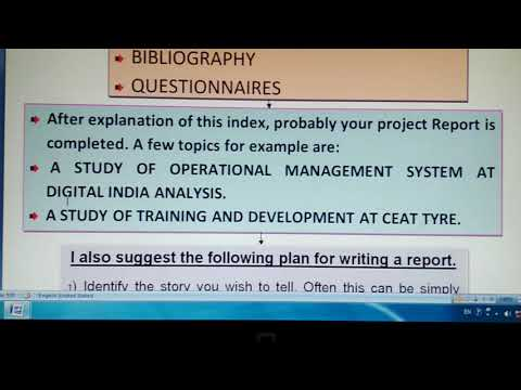 How to make project Report