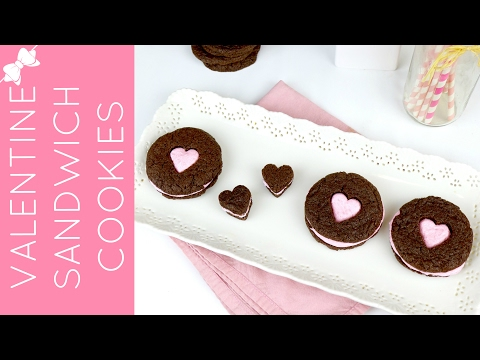 Valentine's Cake Mix Sandwich Cookies // Lindsay Ann Bakes
