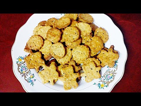 How to make Namkeen Cookies or Salted Biscuit at Home||easy way to make Whole Wheat Salted Biscuit.