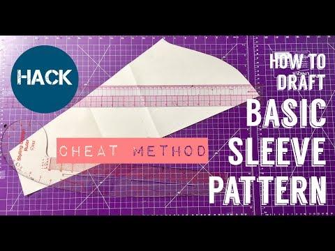 DIY HOW TO DRAFT SLEEVE PATTERN I Cheat Method I HACK - PrettyTallLifeTV