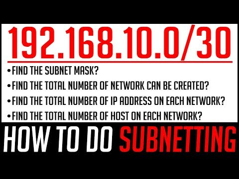 SUBNETTING In Computer Network | How To Find Subnet Mask, Network ID, Host IP Address & Broadcast ID