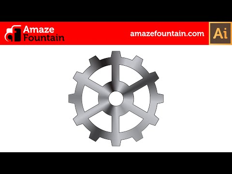 ILLUSTRATOR TUTORIAL: How To Create Gear Wheel (Illustrator Graphics Design Tutorial)