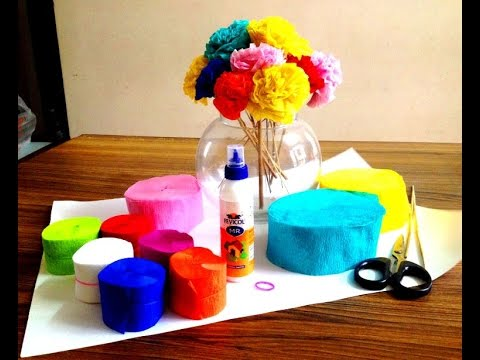 How to make Flower using Crepe Paper