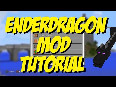 Riding EnderDragon Mod Minecraft PS4 PS3 EASY MOD TUTORIAL