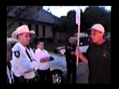 Journey for Justice - Giddings, Texas 9/27/2000...Activist Riot versus Police