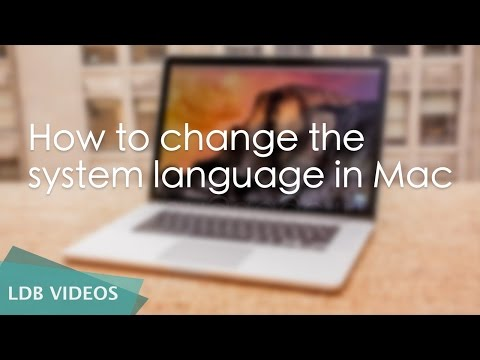 How to change the system language in Mac OS X El Capitan