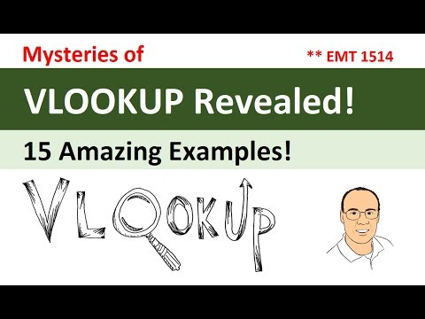 Mysteries of VLOOKUP Function Revealed! 15 Amazing Examples! (Excel Magic Trick 1514)