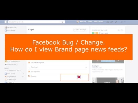 How do I view Facebook business page news feeds