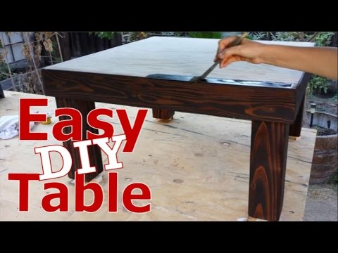 Make A Quick & Easy DYI Table