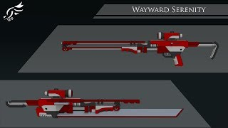Tranquil Evergreen' - RWBY OC Weapon (Commission)