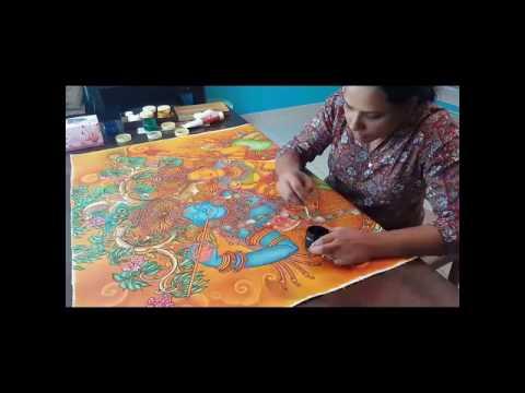 Kerala mural painting  class...radhamadhavam