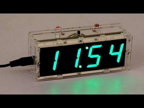 DIY 4 Digit LED Clock Kit With Vioce and Flash Light | Unboxing and Assembling # 3