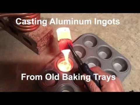 Casting Aluminum  Ingots from Old Baking Trays