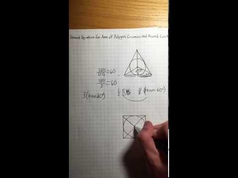 Equation for Area of Circumscribed Polygon