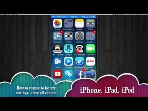How to delete erase all data settings in iPhone iPad iPod without a computer