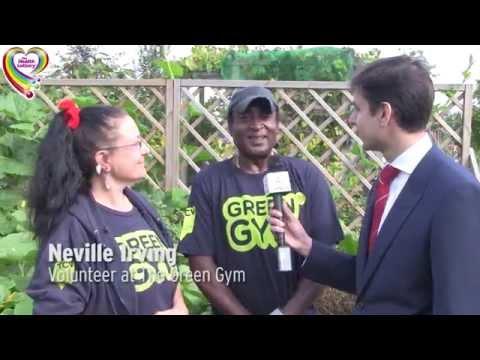 David Lammy Health Lottery TCV Green Gym visit