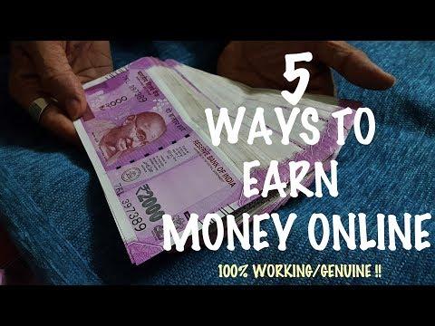 5 ways to earn online 2017 ! How to earn money online 100% working/genuine!!