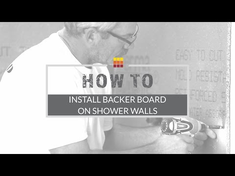 Shower Wall Installation - How To Install Backer Board - The Tile Shop