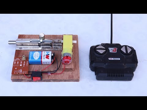 How to make Remote Control Door Lock from DC Motor