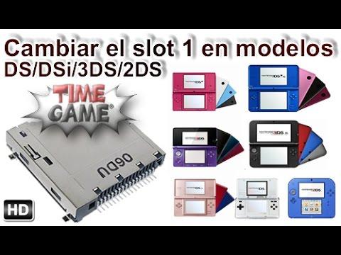 Como cambiar el lector o slot de juegos DS  DSi  3DS  2DS