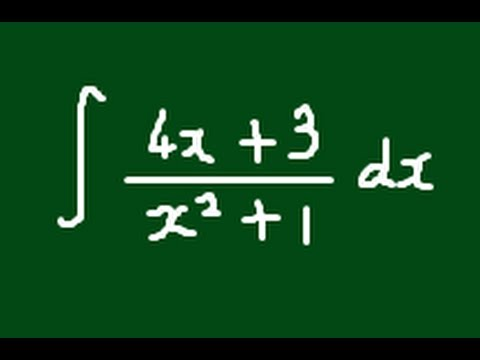 The integral of (4x+3)/(x^2+1) - Version 1