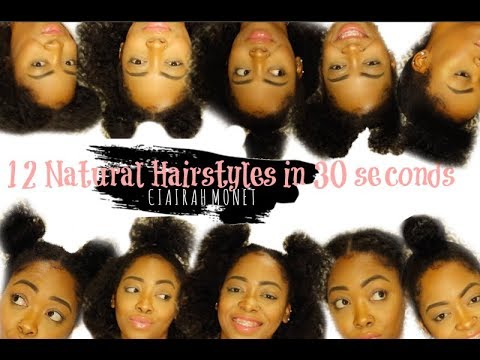 12 NATURAL HAIRSTYLES IN 30 SECONDS | SHORT NATURAL HAIR