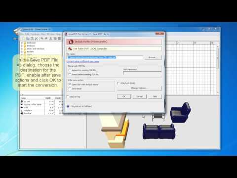 Convert Sweethome 3D to PDF