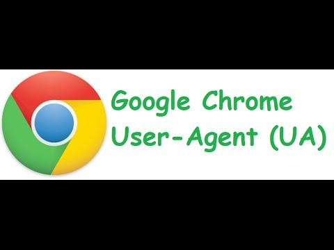 How to change Google Chrome User-Agent (UA)