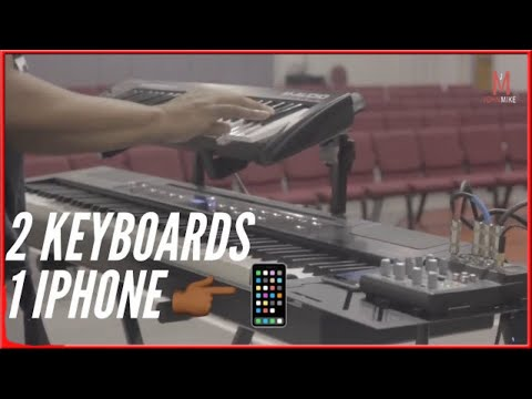 Running 2 Keyboards Using Only My iPhone!!