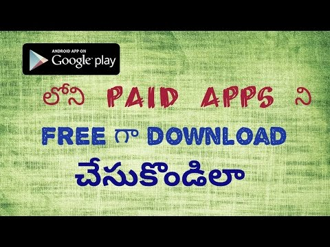 How to download paid Apps for free from Google playstore || telugu తెలుగు