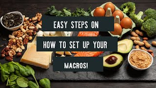 Easy step by step on How to Set your Macros for the keto diet