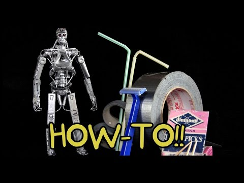 How To Make Your Own T-800 Terminator Action Figure!! - Homemade How-to!