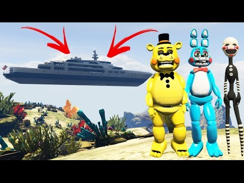 TOY ANIMATRONICS vs NO WATER MOD! (GTA 5 Mods FNAF Funny Moments)