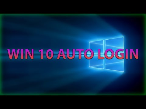 How to Auto Login/Sign In in Windows 10 | 2018