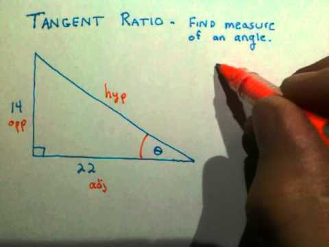 Tangent Ratio - Finding the measure of an angle