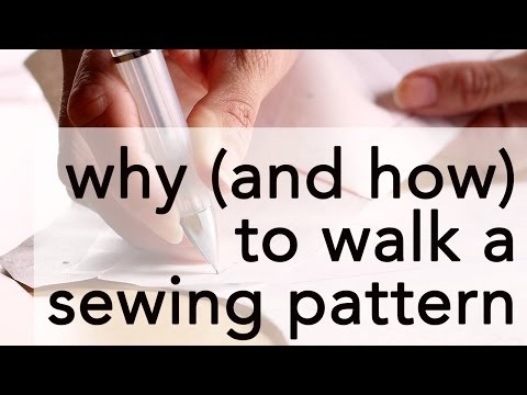 How to Walk a Sewing Pattern   Vintage on Tap