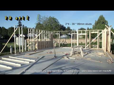 Passive home construction in Port Alberni BC Canada  wall build window and door headers  sheating