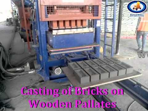 Fully automatic Fly ash bricks making machine with Batching system..