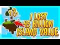 I Lost 45 Billion Island Value!!?  | VanityMC #S2 E3 (Minecraft Skyblock)