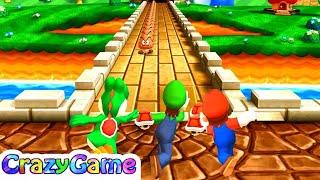 Mario Party 9 High Rollers - Daisy vs Shy Guy vs King Bomb-omb vs