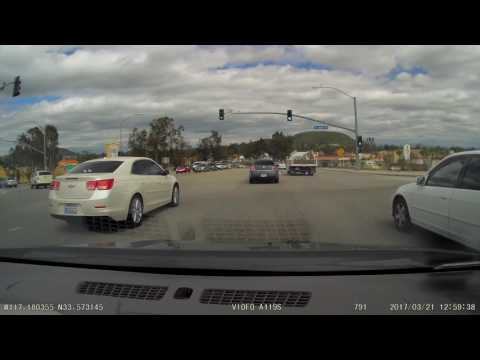Dash Camera - Going straight in a turn lane to avoid traffic.