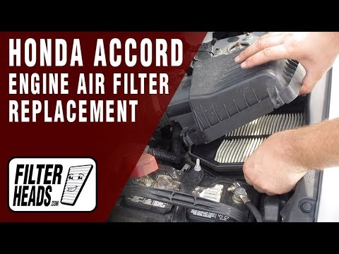 How to Replace Engine Air Filter 2012 Honda Accord L4 2.4L