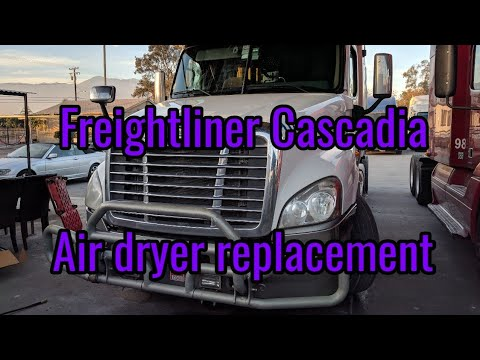 Freightliner Cascadia Air dryer filter remove replacement